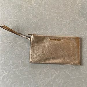 Michael Kors Gold Clutch Wristlet